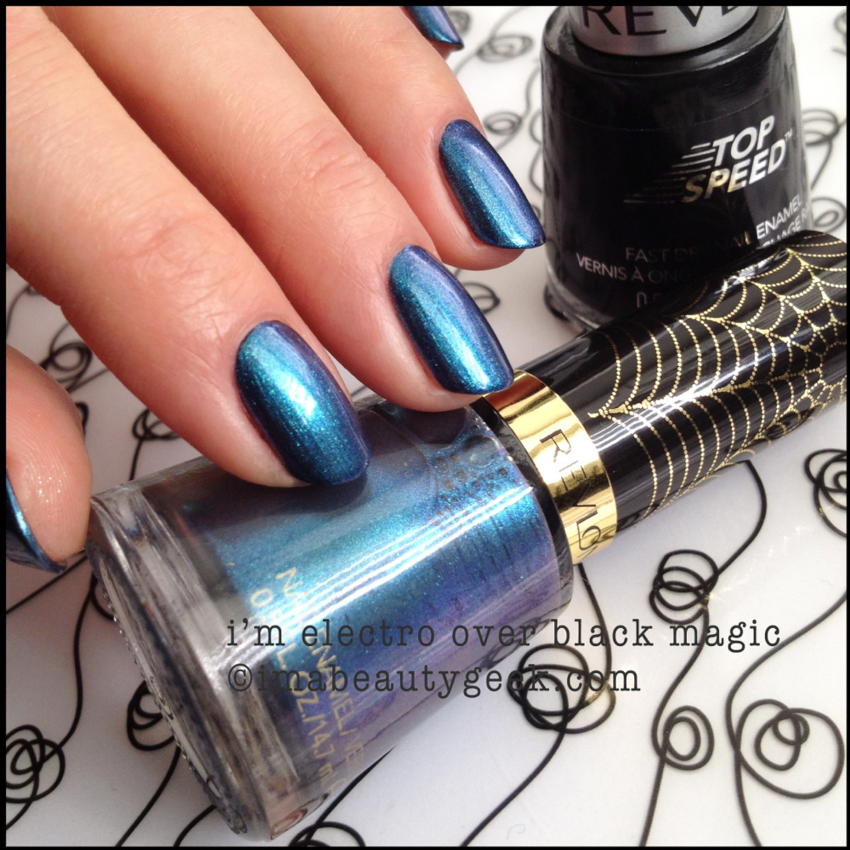 Revlon Spiderman I'm Electro Black Magic Electric Chrome