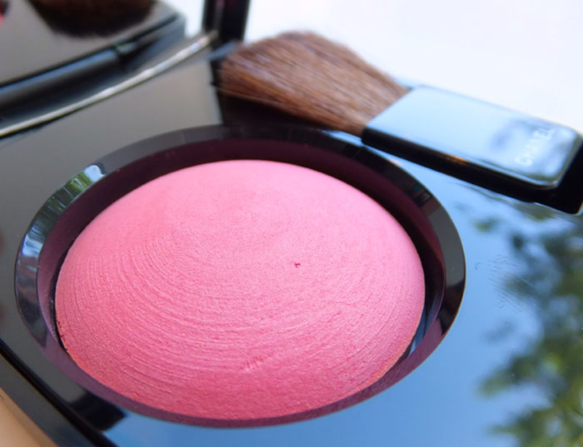 Chanel Powder Blush in 72 Rose Initiale_Fall 2012 makeup