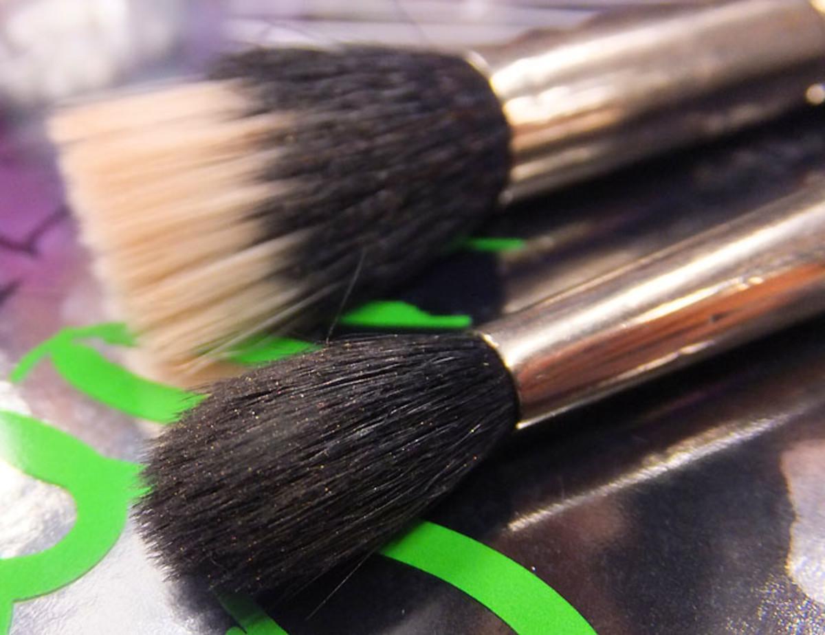 cream foundation and cream concealer brushes