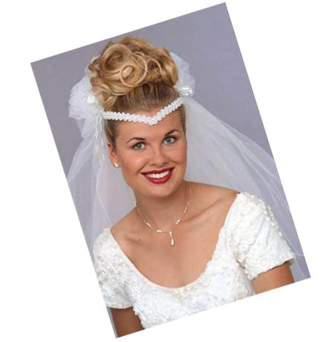 80s bridal hairband