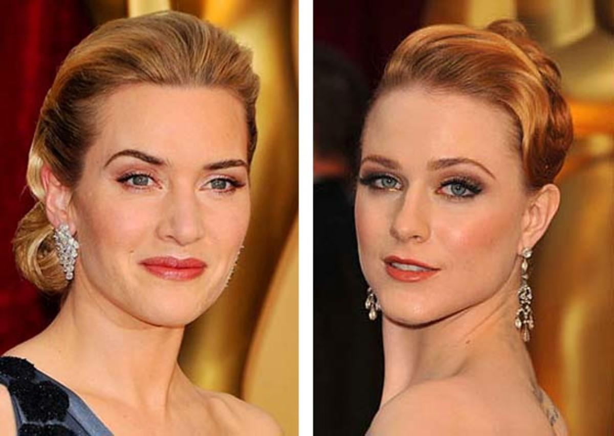 Kate Winslet at 34; Evan Rachel Wood at 22.