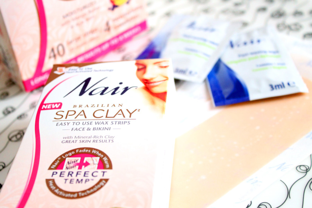 Budget Beauty_salon service at home_Nair Brazilian Spa Clay wax strips