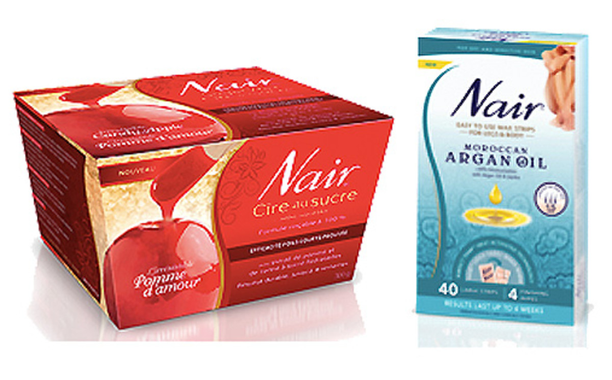 Nair Candy Apple Sugar Wax_Nair Moroccan Argan Oil Wax Strips