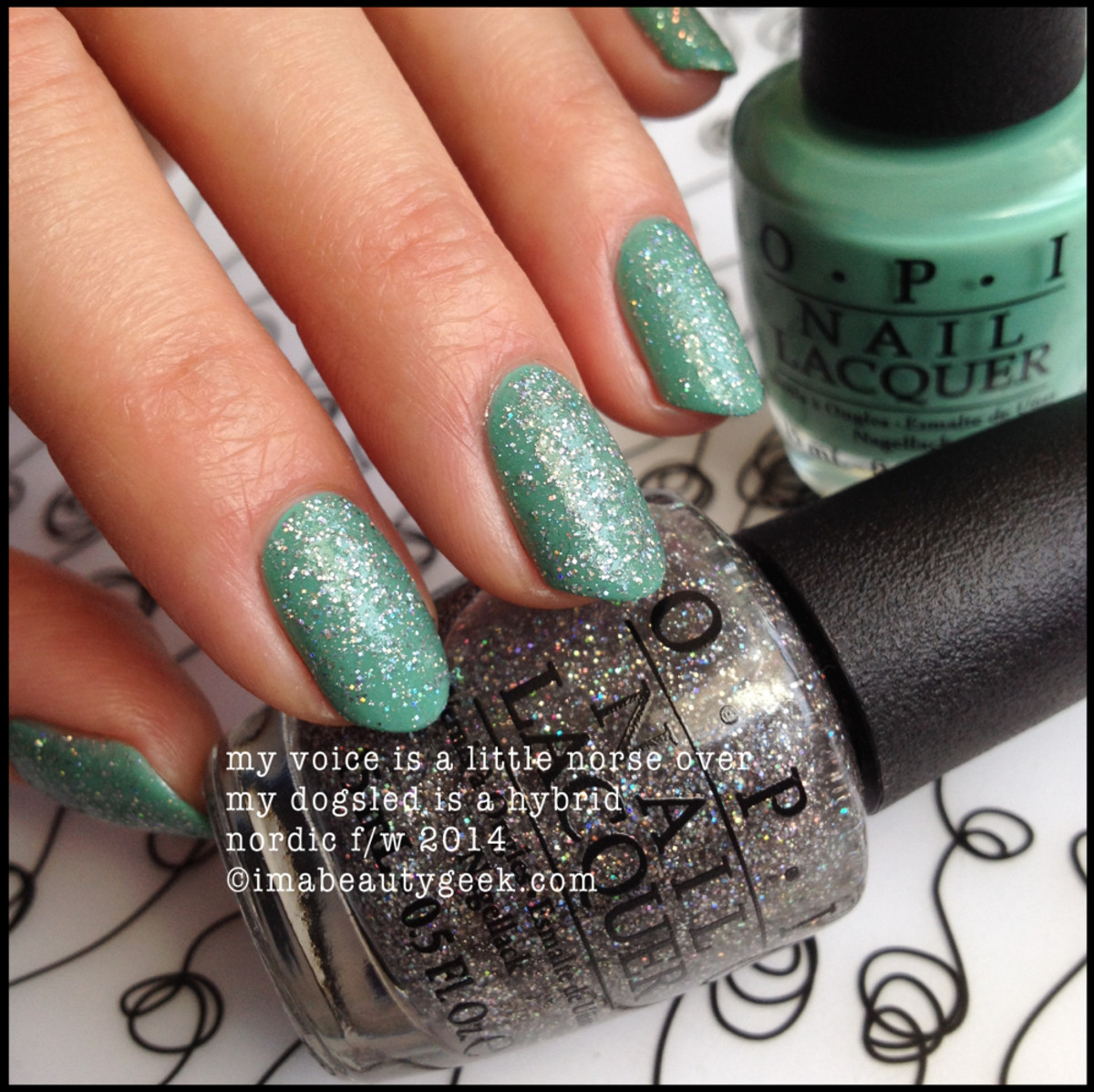 opi nordic my voice is a little norse over opi my dogsled is a hybrid