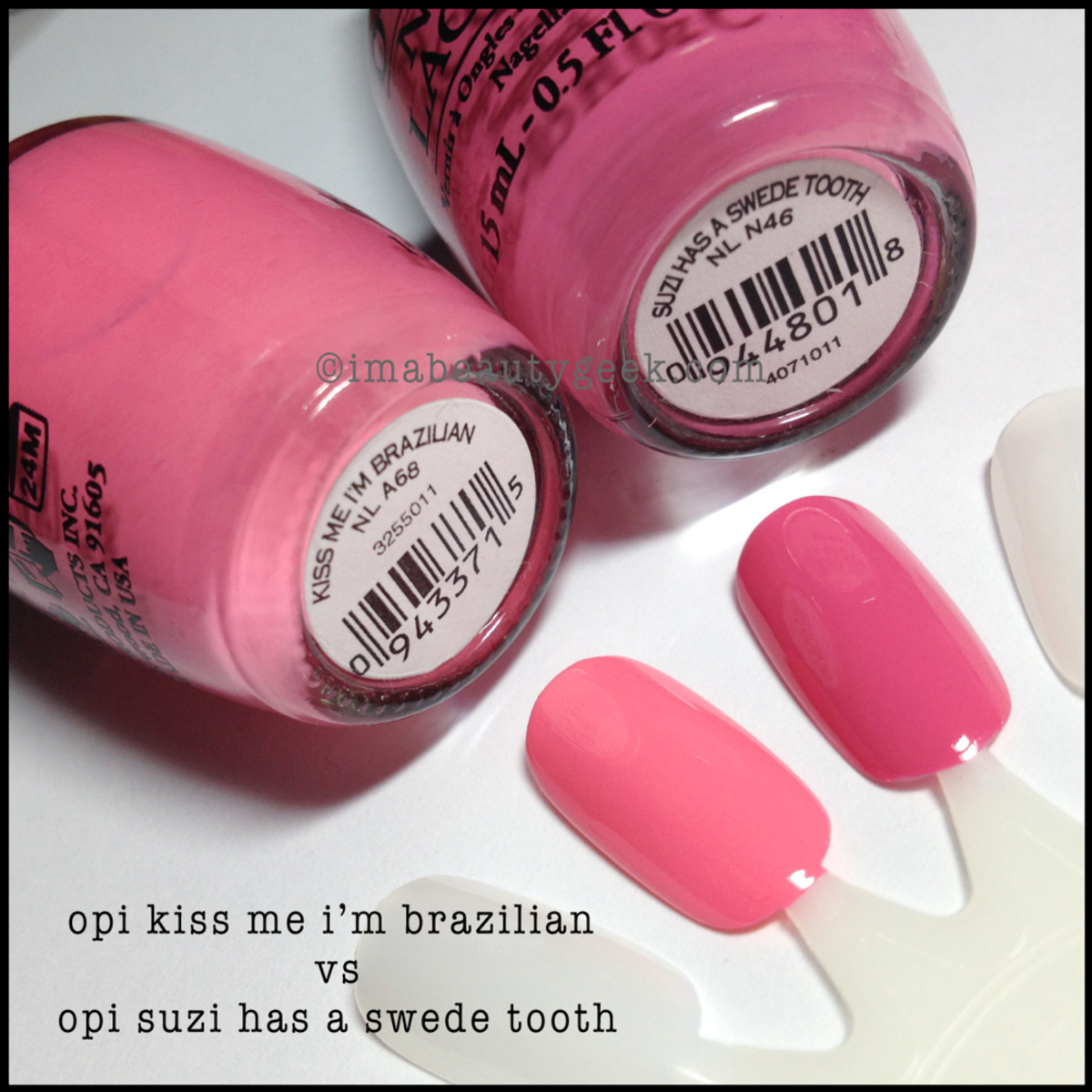 OPI Suzi has a Swede Tooth Comparison Swatch