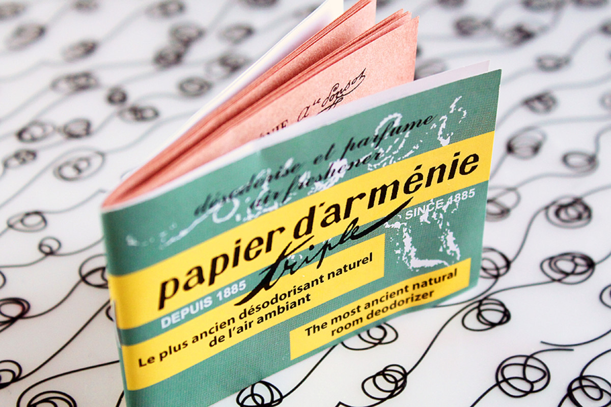 French Pharmacy finds 2.0: Papier D;Armenie burning papers for deodorizing a room