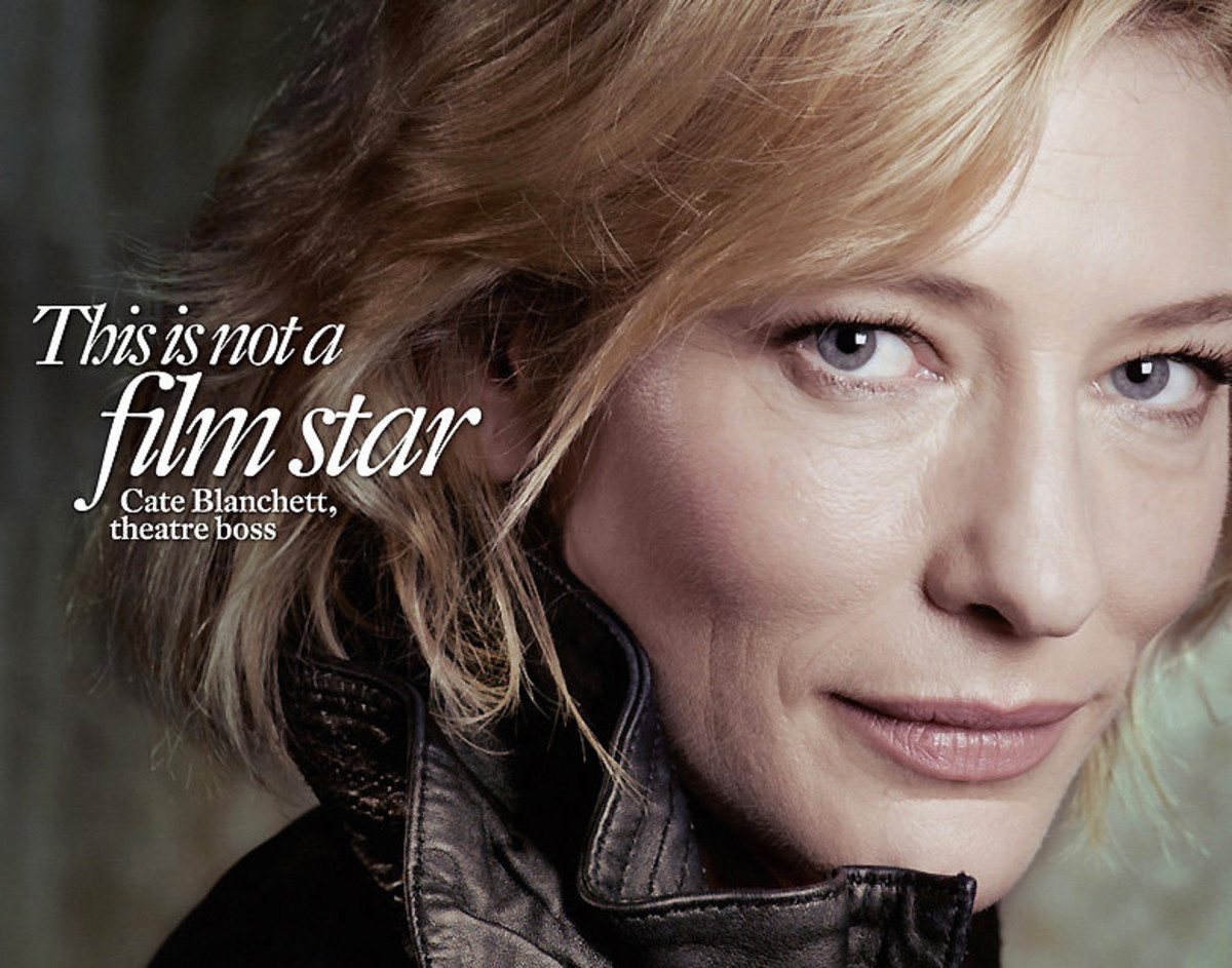 Cate Blanchett sans Photoshop on the cover of Intelligent Life in 2012