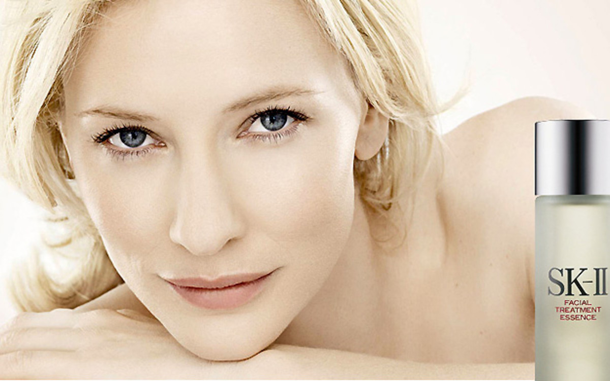 Cate Blanchett – super re-touched for a skincare ad
