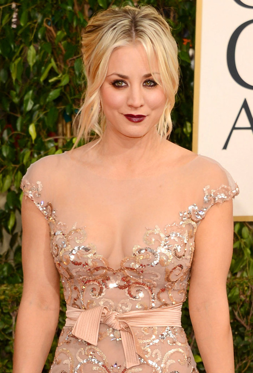 KALEY CUOCO at Golden Globe Awards