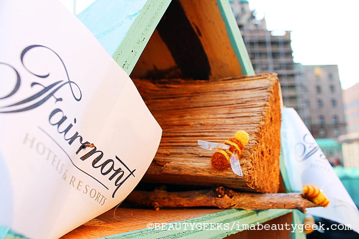 Burt's Bees bee hotel at the Royal Fairmont Royal York, Toronto