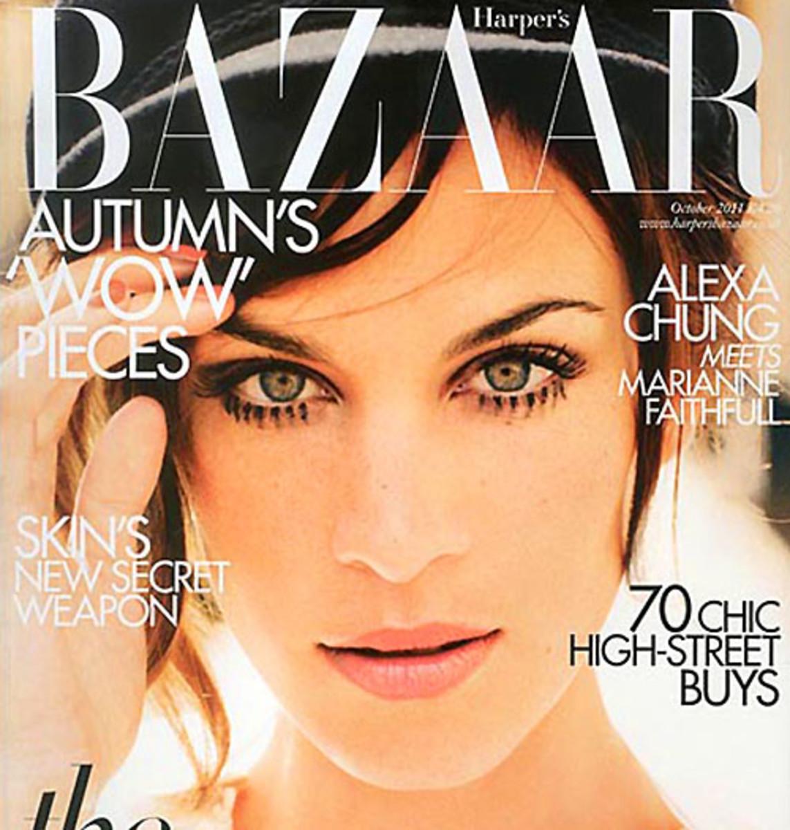 Alexa Chung Harper's UK cover
