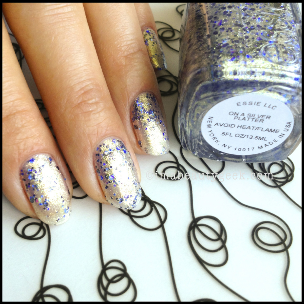 Essie On a Silver Platter Encrusted Treasures Collection 2013