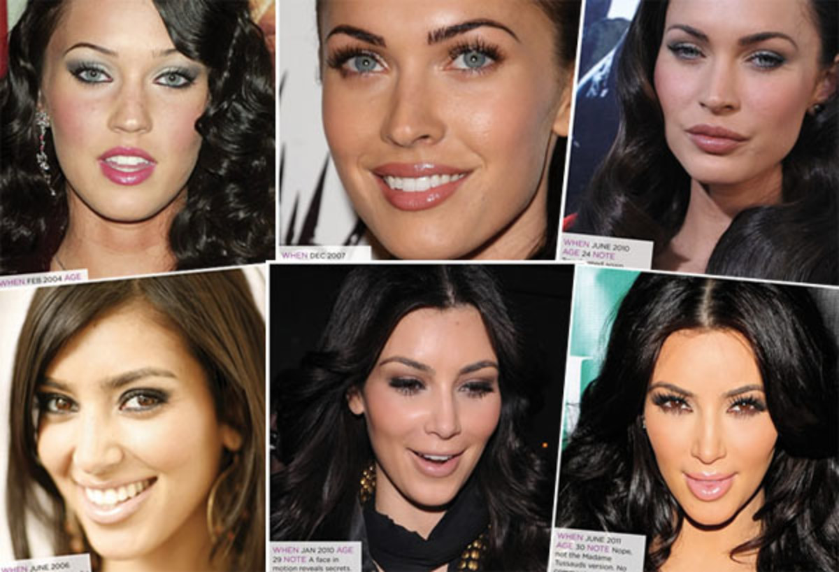 cosmetic enhancement_the many faces of Megan Fox and Kim Kardashian_TheKit.ca