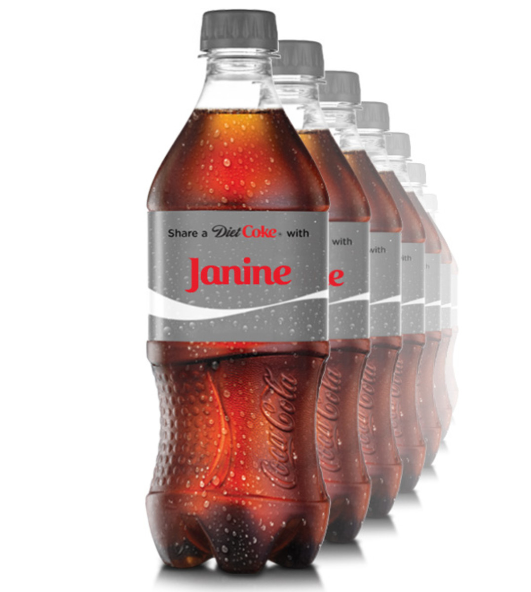 personalized coke labels _share a coke with Janine