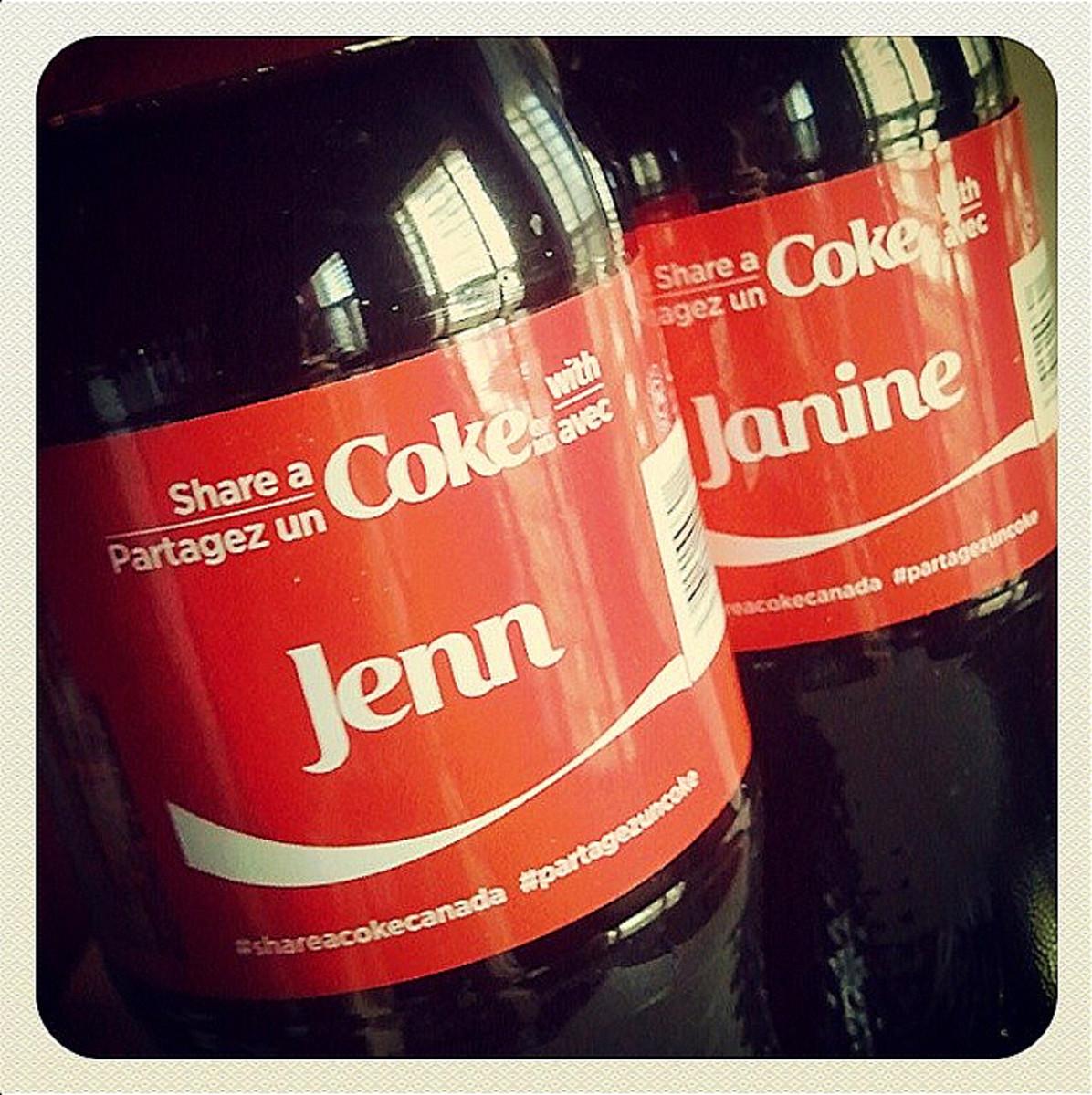 personalized coke labels_jenn and janine