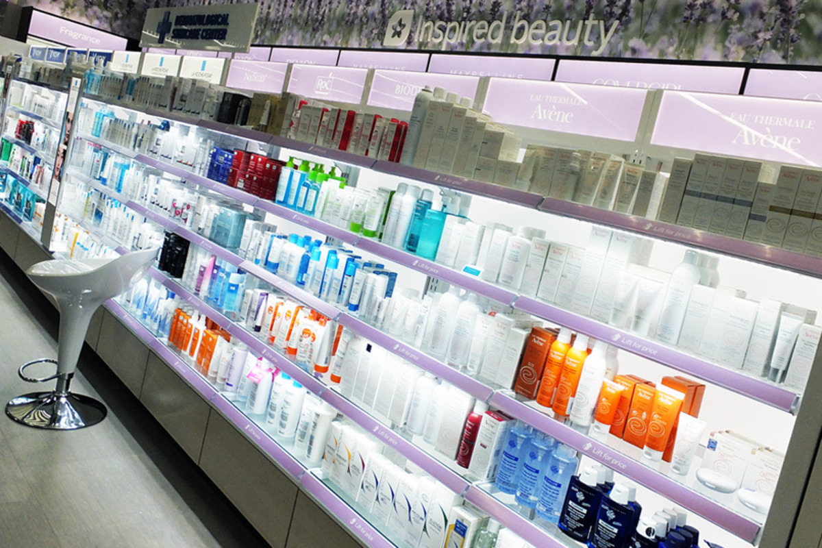 The derma skincare section, College & Spadina Rexall