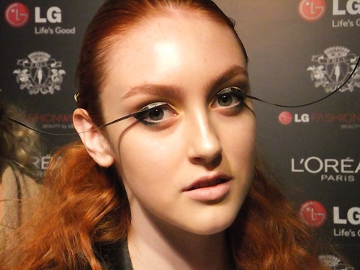 Frances_fanciful DIY lashes_LG Fashion Week SS 2012_VAWK