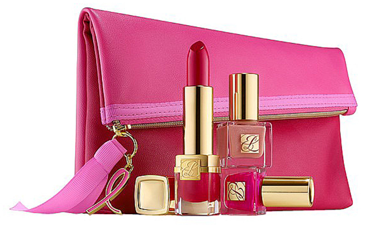 Estee Lauder Eveylyn Lauder and Elizabeth Hurley Dream Pink Collection