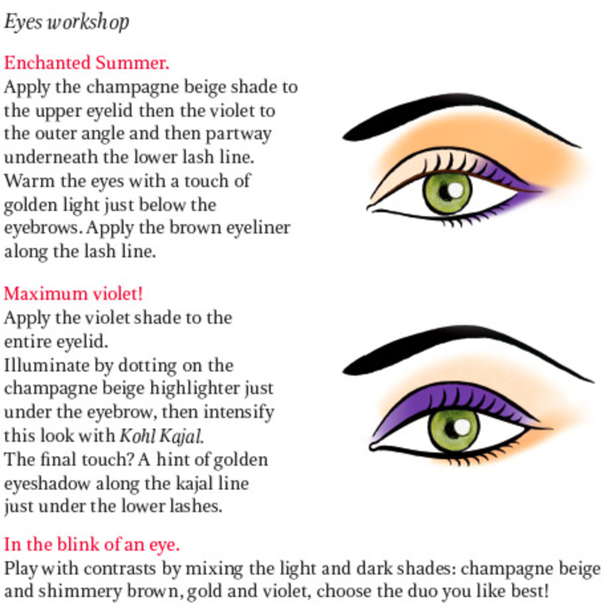 Clarins Enchanted Eye Palette tutorial