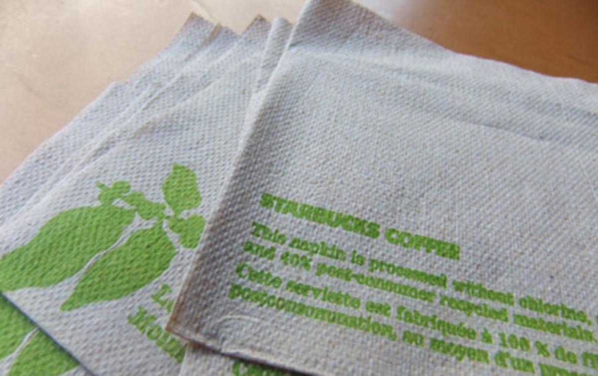 Starbucks napkins make good blotting sheets in a pinch