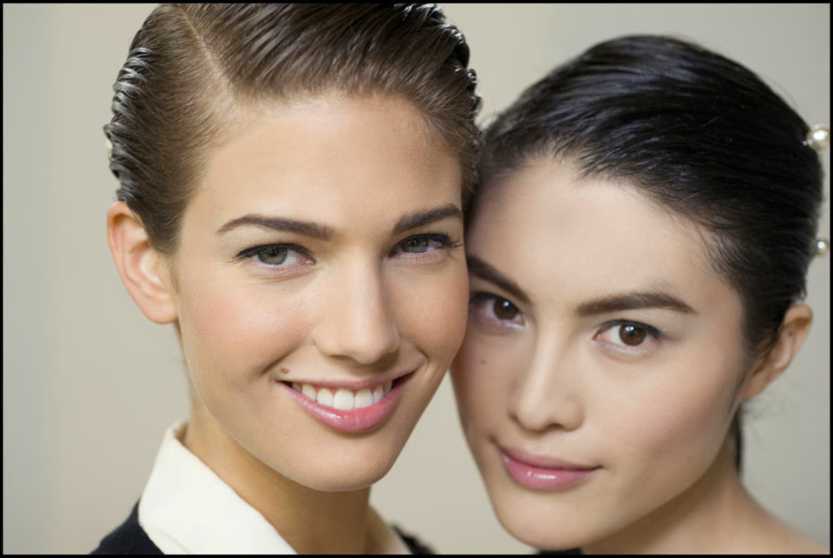 Chanel 2012_backstage beauty_two faces_makeup