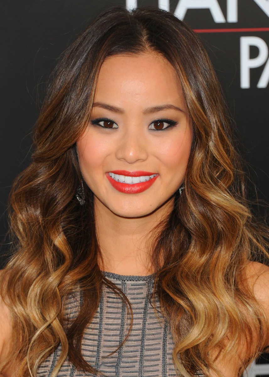 jamie chung ombre_how to diy ombre color-treated hair