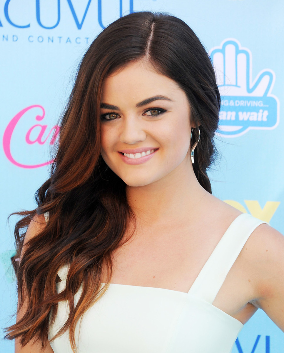 Lucy Hale ombre_how to diy ombre previously colored hair