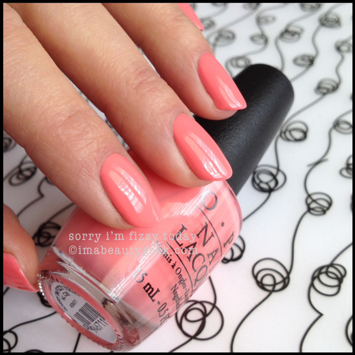 OPI Sorry I'm Fizzy Today OPI Coca Cola 2014
