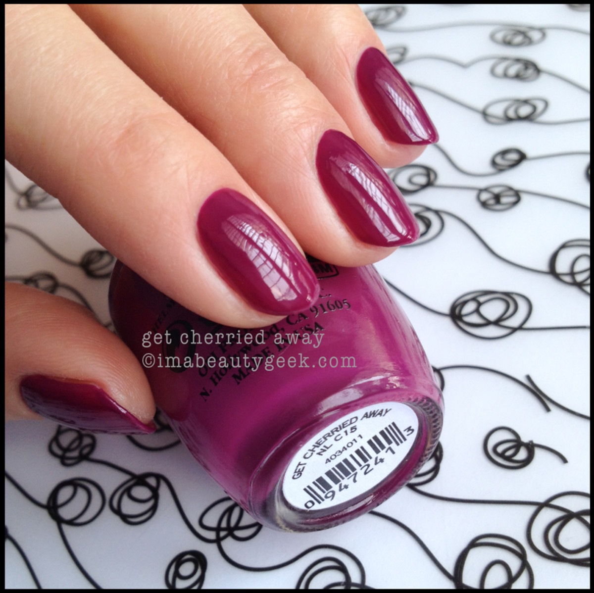 OPI Get Cherried Away OPI Coca Cola 2014