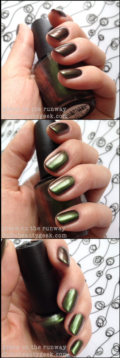 OPI Green on the Runway Duochrome OPI Coca Cola 2014
