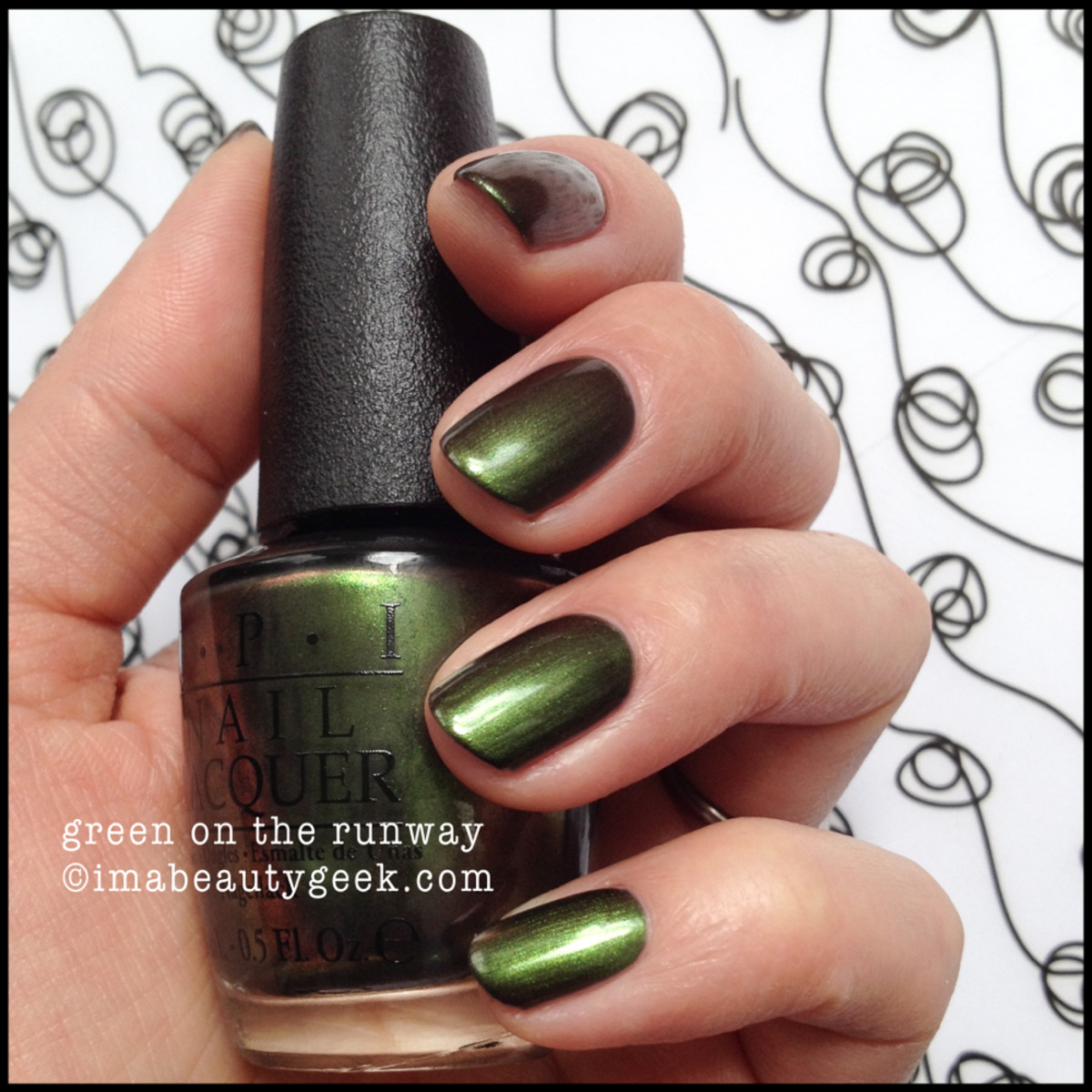 OPI Coca Cola Green on the Runway 2014