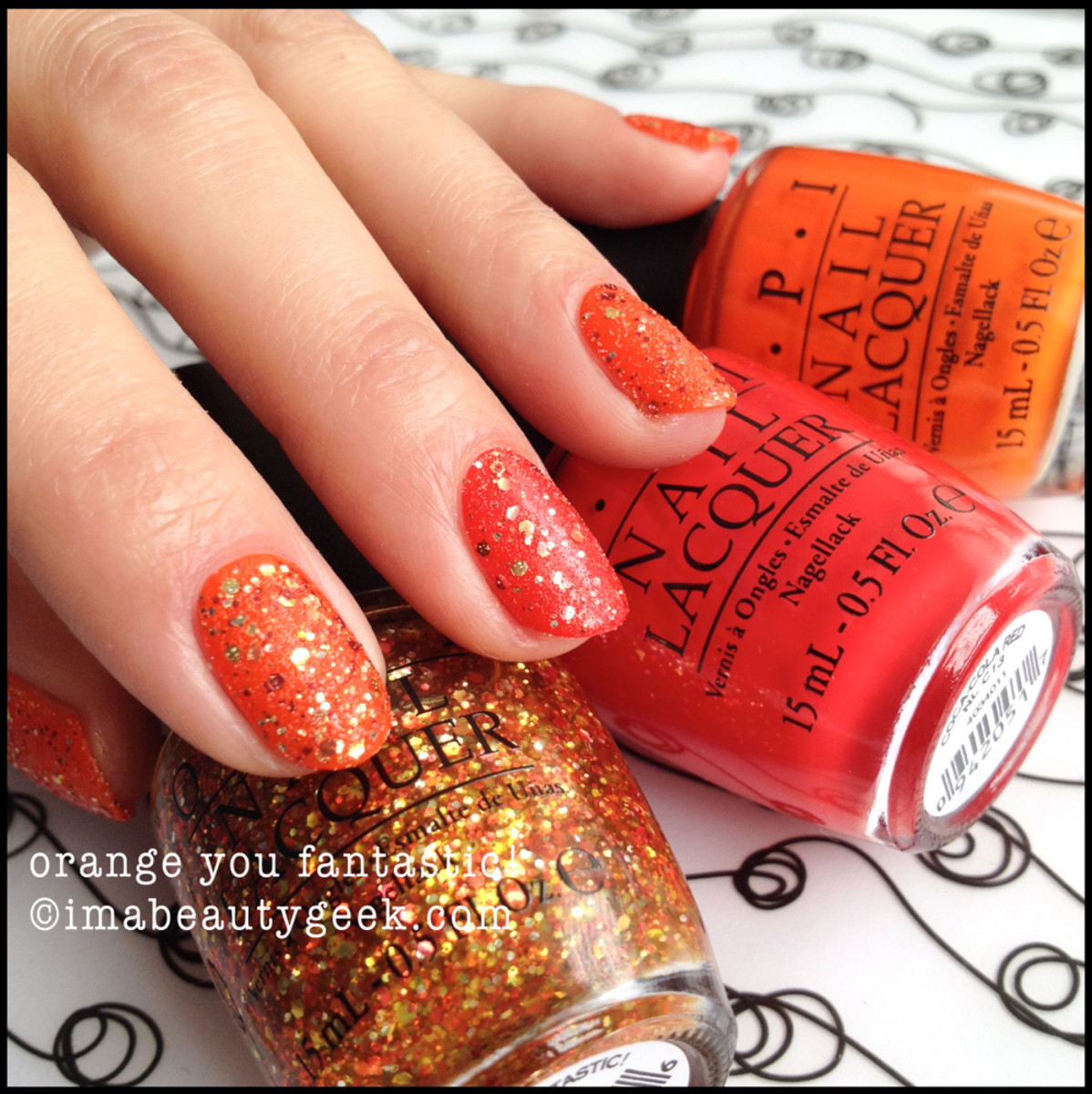 OPI Orange You Fantastic! OPI Coca Cola 2014