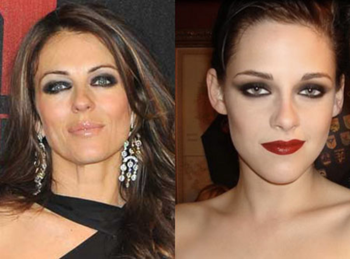 Compare Amp Contrast Smokey Eyes On Elizabeth Hurley And