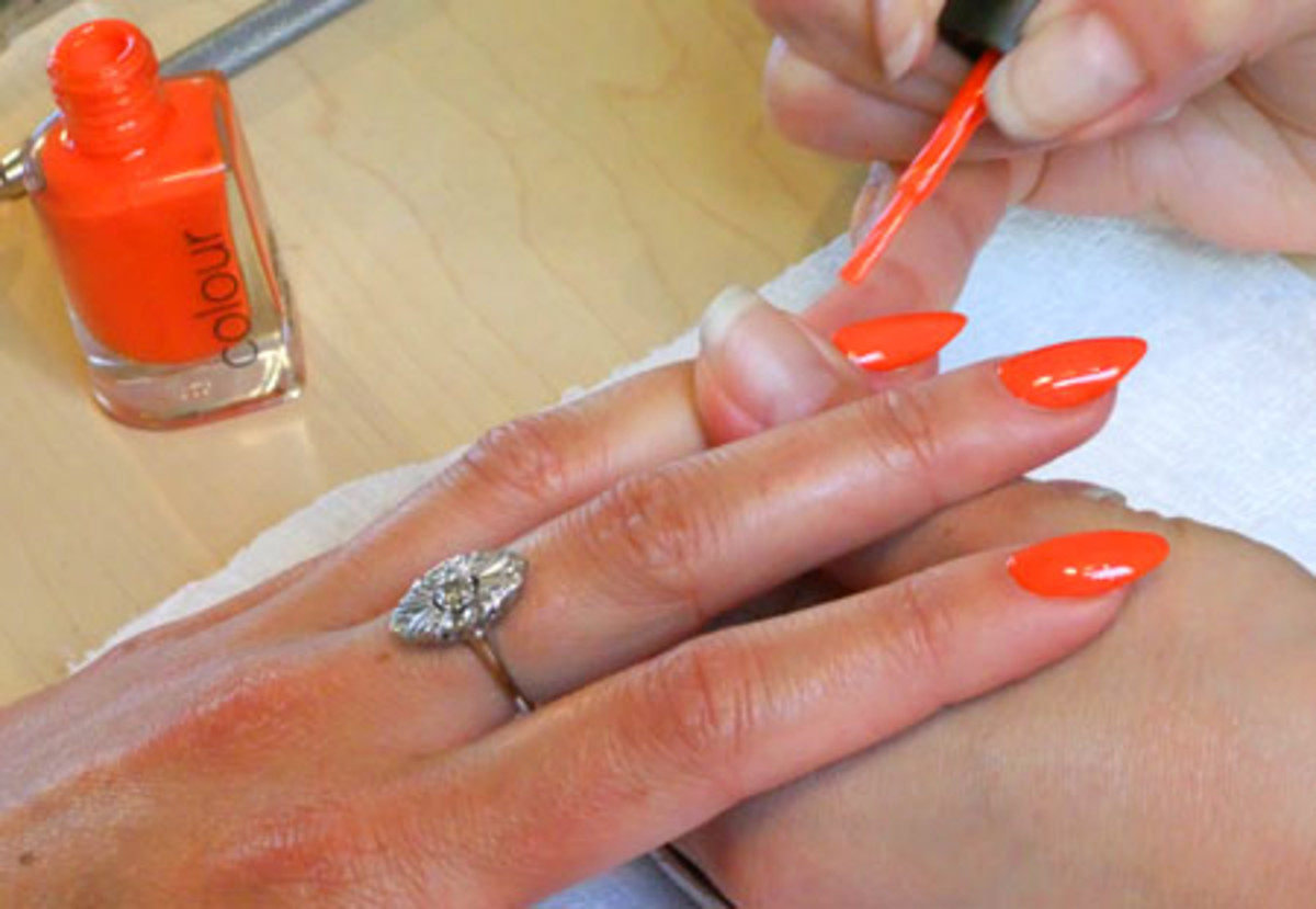 CND nail colour in Electric Orange_Tips Nail Bar_BEAUTYGEEKS_imabeautygeek.com