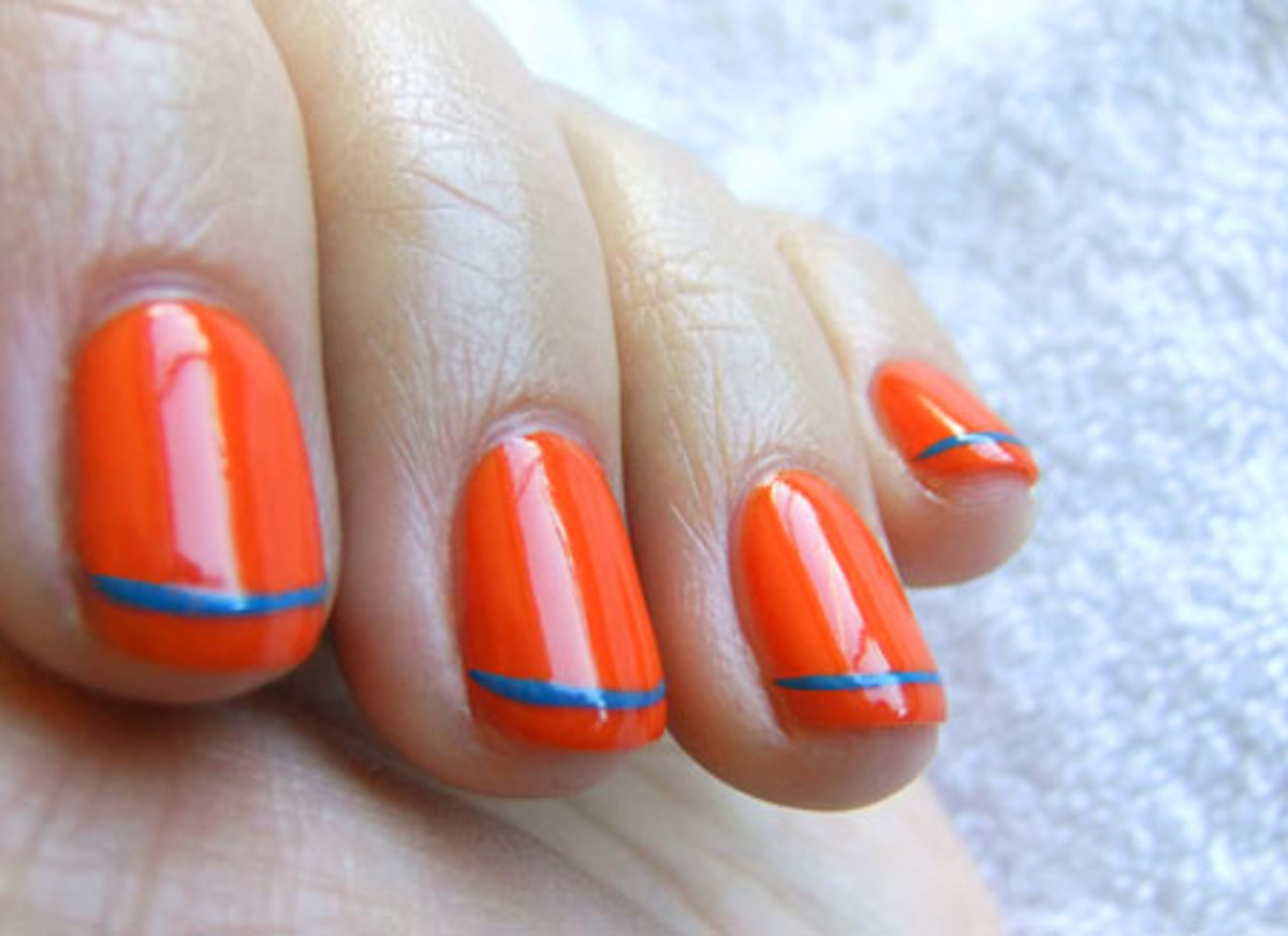 YSL Summer 2011 nail polish in Ultra Orange and Utopian Turquoise_Tips Nail Bar_BEAUTYGEEKS_imabeautygeek.com