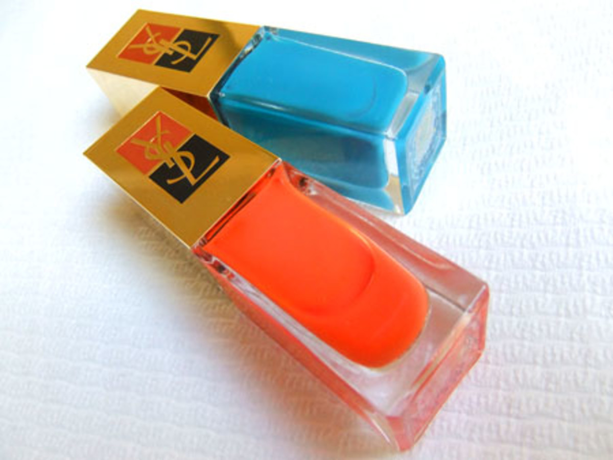 YSL Summer 2011 nail polish_Utopian Turquoise_with_142 Ultra Orange