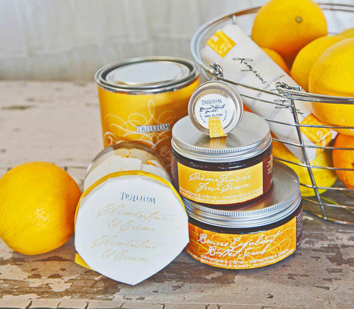Trilliam Clementine & Cream body care