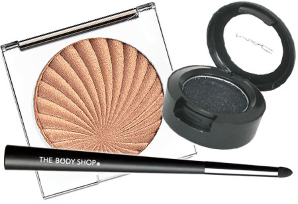 Liis W_Lise Watier Havana Bronzer_MAC Black Tied velvet shadow_The Body Shop Line Softener