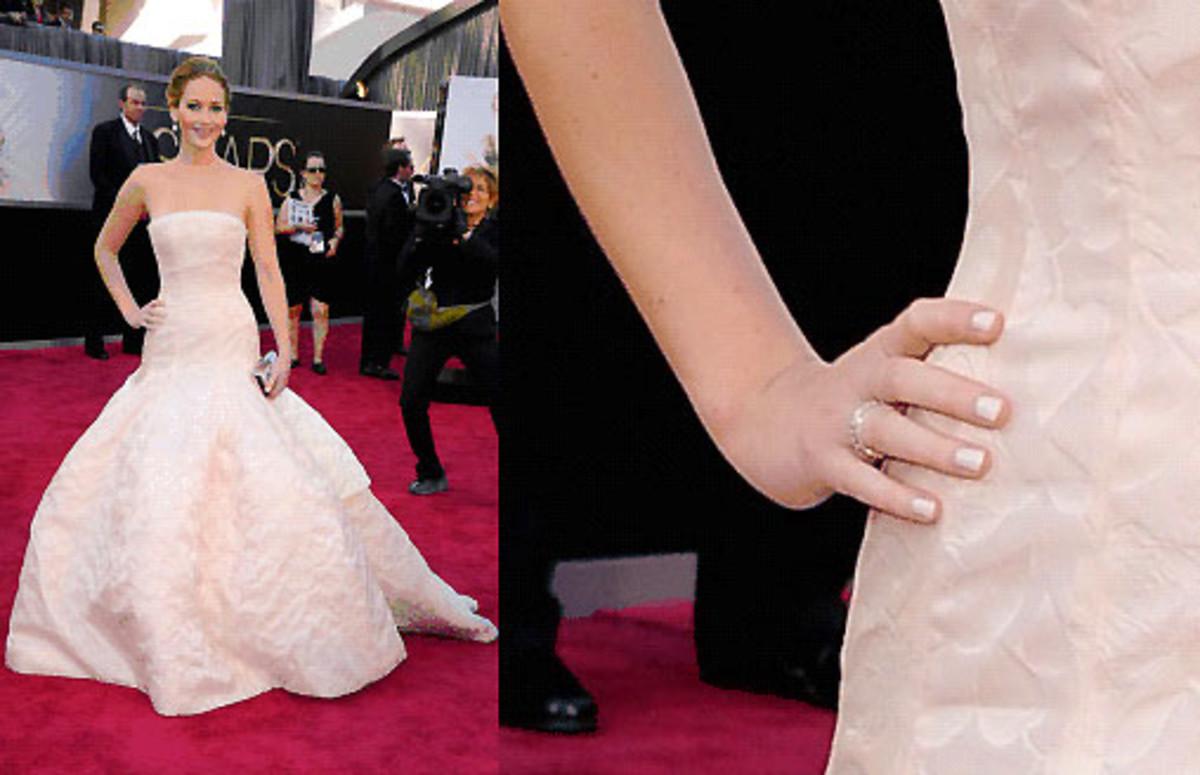 Jennifer Lawrence Oscars 2013 manicure