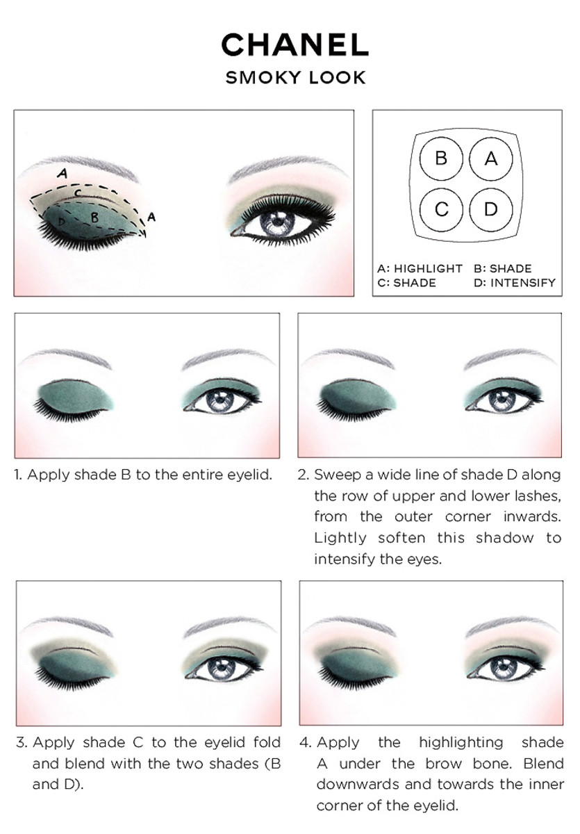 Chanel Eye Makeup Chart How To Wear Chanel Les 4 Ombres