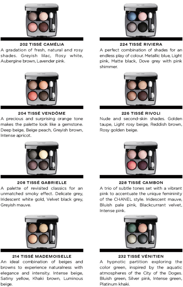 Chanel Les 4 Ombres 2014 eye shadow quads