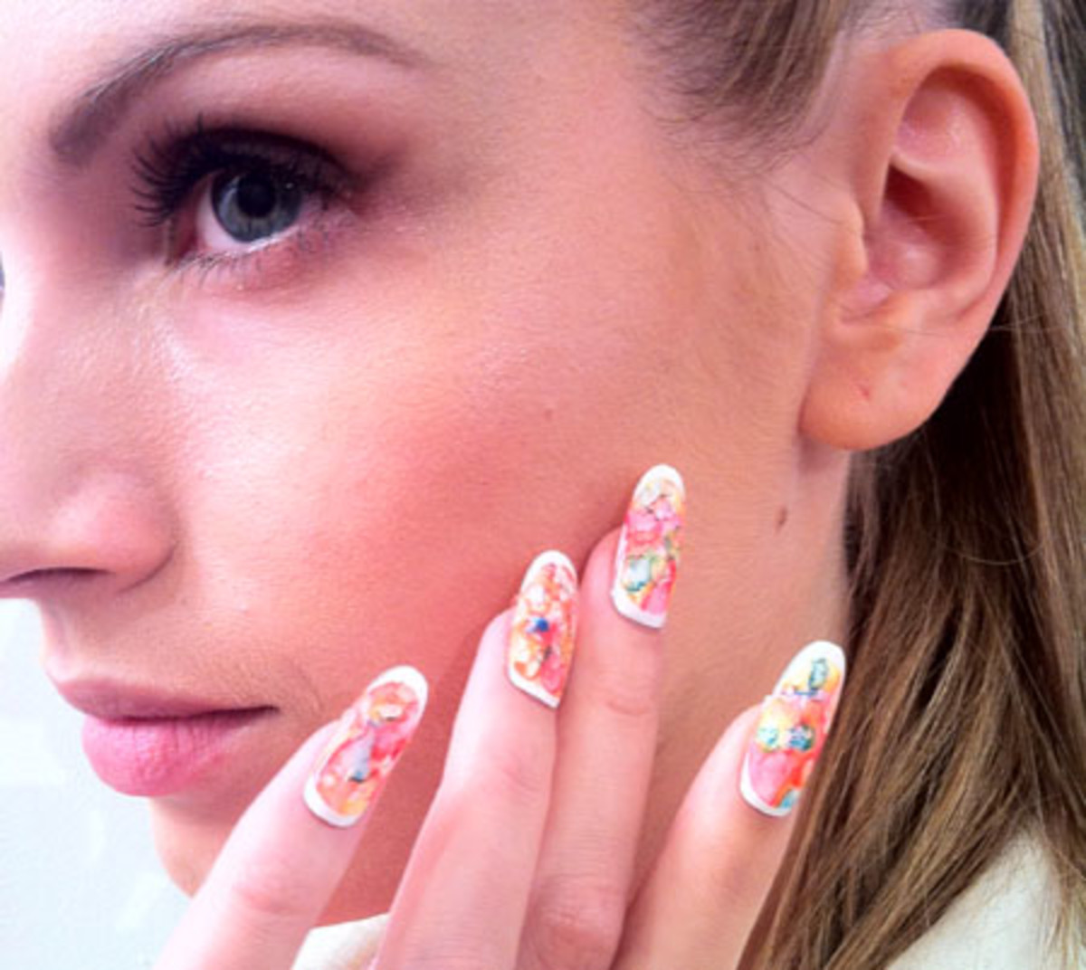 Lucien Matis Spring 2012 nails by Leeanne Colley and Tips Nail Bar