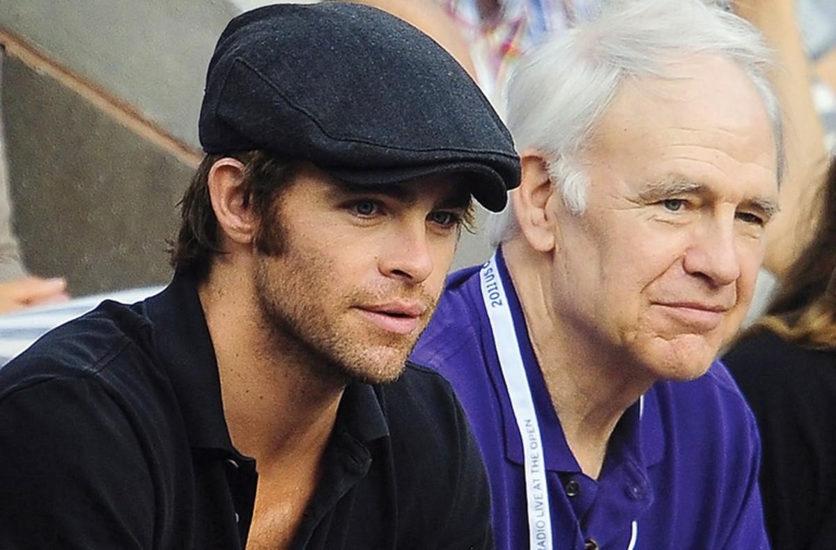 Chris Pine and dad Robert Pine