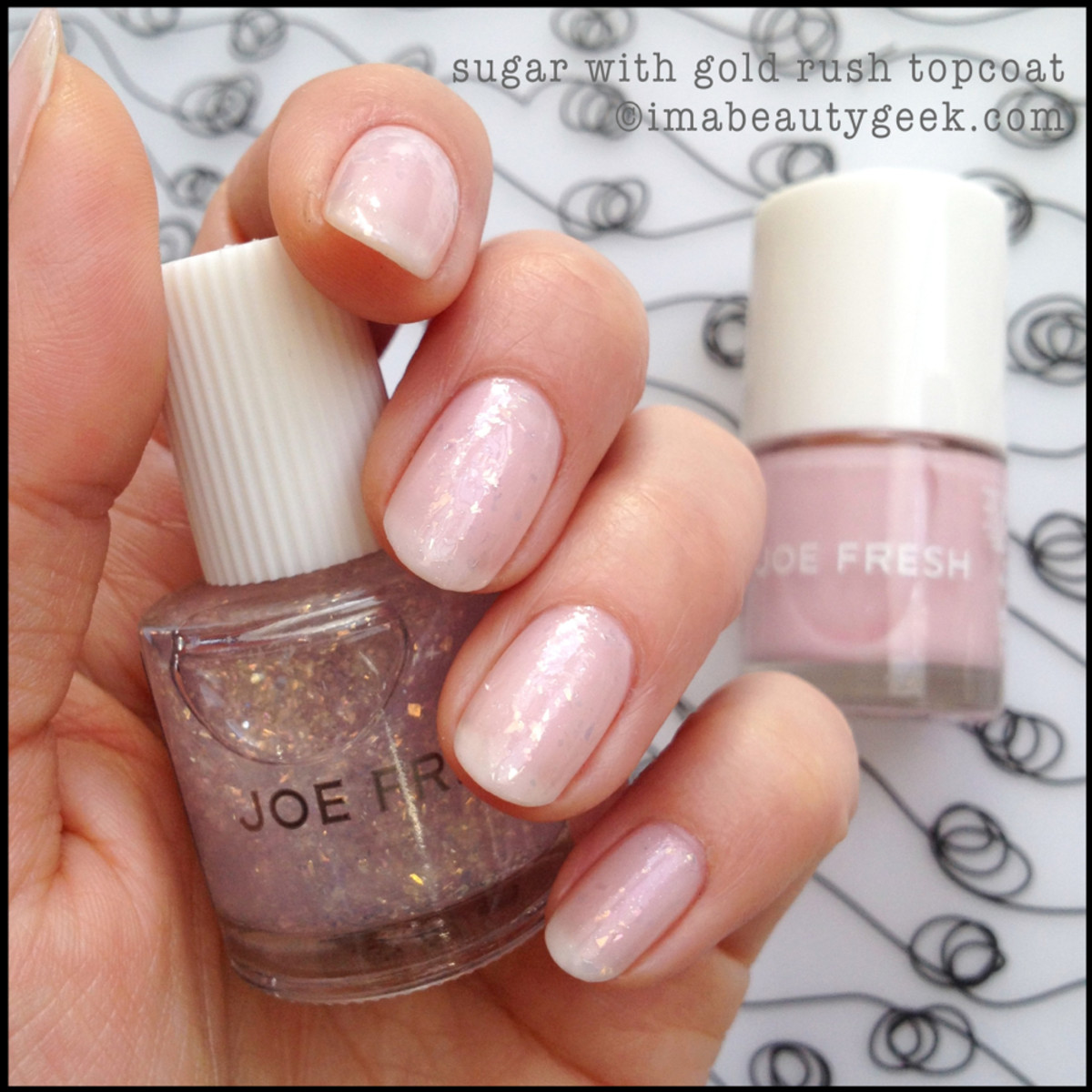 Joe Fresh Polish Sugar with Gold Rush Topcoat