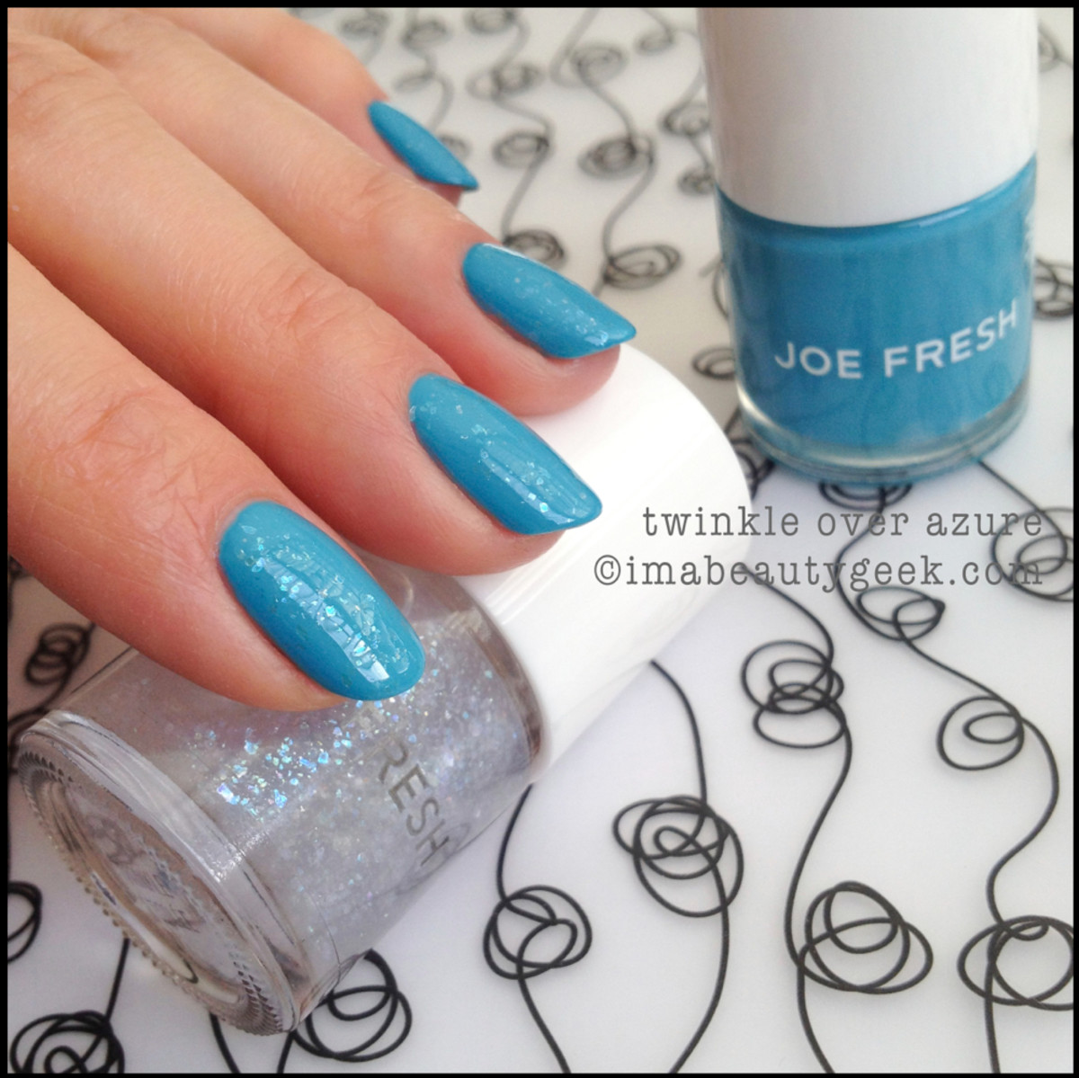 Joe Fresh Polish Twinke over Azure