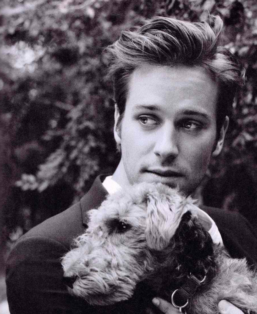 Armie Hammer and dog