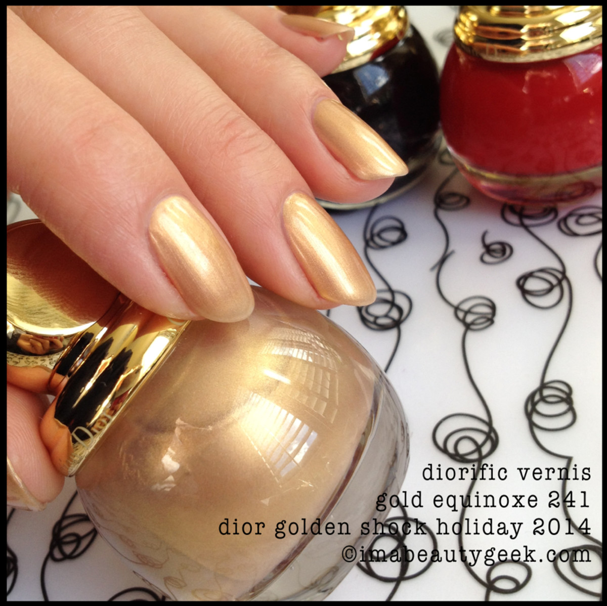 Dior Golden Shock Vernis Gold Equinoxe 241 Holiday 2014