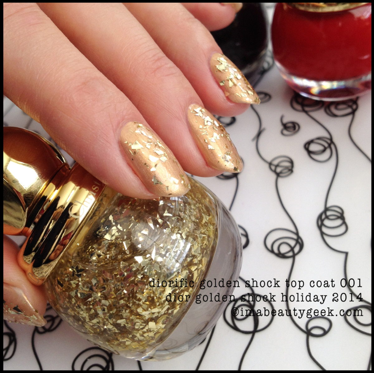 Dior Golden Shock top coat 001 Holiday 2014