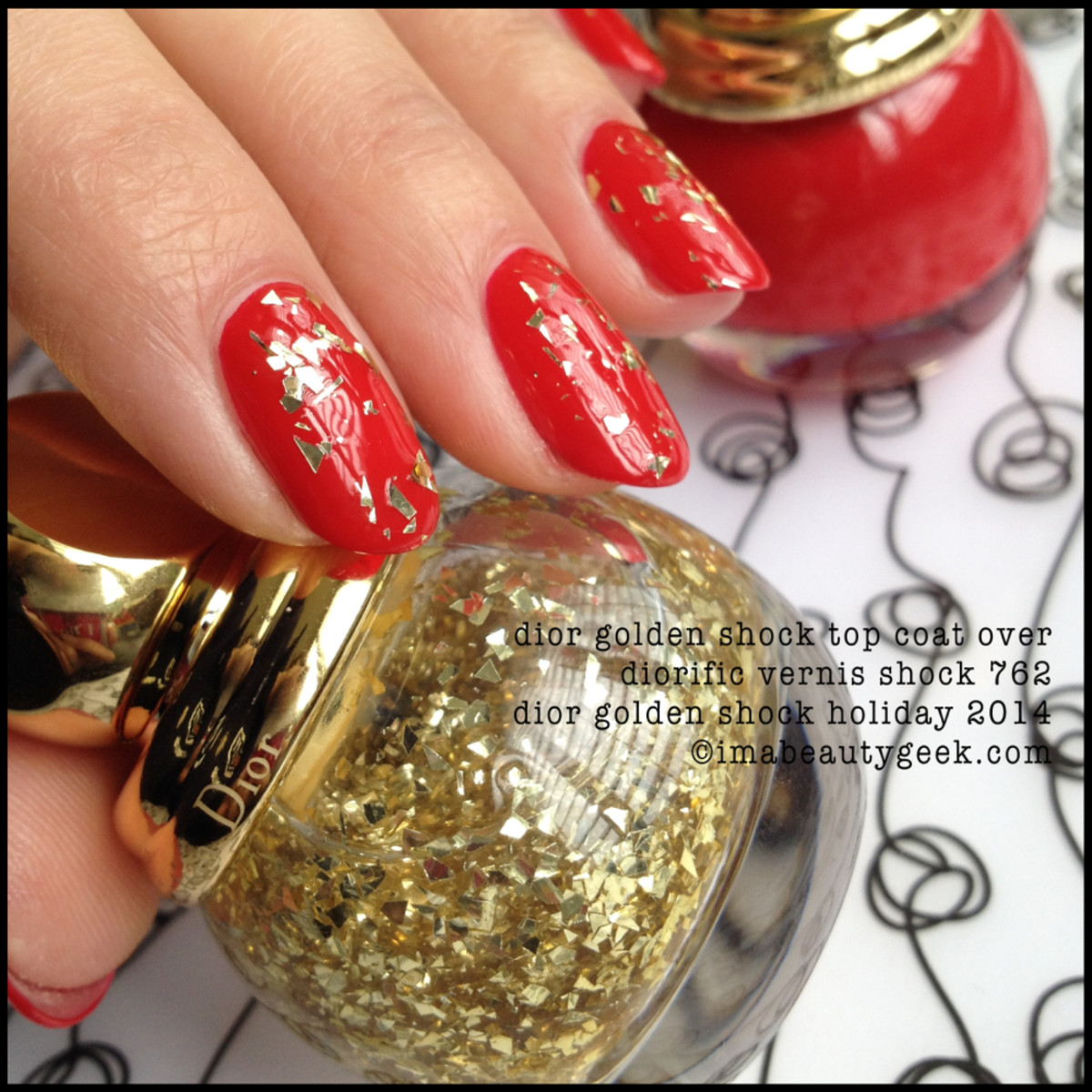 Dior Golden Shock over Diorific Vernis Shock 762 Holiday 2014