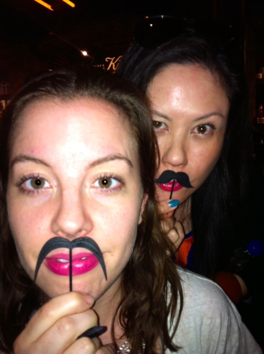 Elle Canada beauty editor Katherine Flemming and me in disguise.